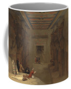 The Hypostyle Hall Of The Great Temple At Abu Simbel Egypt Coffee Mug