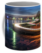 The Icy Charles River At Night Boston Ma Cambridge Coffee Mug