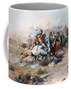 The Indian Encirclement Of General Custer At The Battle Of The Little Big Horn Coffee Mug