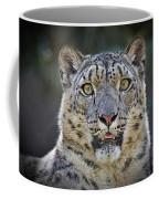 The Intense Stare Of A Snow Leopard Coffee Mug