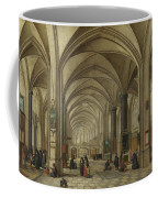 The Interior Of A Gothic Church Looking East   Coffee Mug