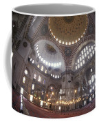 The Interior Of The Suleymaniye Mosque Coffee Mug by Richard Nowitz