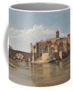 The Island And Bridge Of San Bartolomeo - Rome Coffee Mug