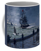 The Jetty At Le Havre In Bad Weather Coffee Mug by Claude Monet