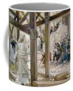 The Jews Took Up Stones To Cast At Him Coffee Mug by Tissot