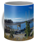 The John O'connell Bridge Is A Cable-stayed Bridge Over The Sitk Coffee Mug