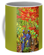 The Joys Of Autumn Camping - Paint Coffee Mug