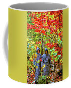 The Joys Of Autumn Camping Coffee Mug