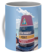 The Key West Florida Buoy Sign Marking The Southernmost Point On Coffee Mug