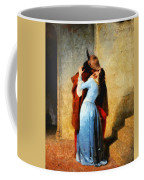 The Kiss Of Hayez Revisited Coffee Mug