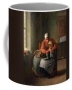 The Knitting Lesson Coffee Mug
