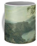 The Lake Of Nemi And The Town Of Genzano Coffee Mug