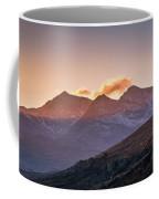 The Last Light Of The Day Over Snowdon. Coffee Mug