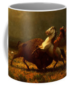 The Last Of The Buffalo Coffee Mug by Albert Bierstadt