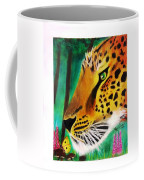 The Leopard And The Butterfly Coffee Mug