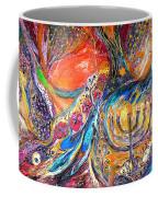The Light Of Menorah Coffee Mug