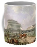 The Liverpool And National Steeplechase At Aintree Coffee Mug
