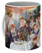 The Luncheon Of The Boating Party Coffee Mug by Pierre Auguste Renoir