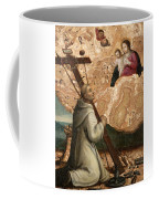 The Madonna And Child Appearing To Saint Bruno With The Instruments Of The Passion Coffee Mug