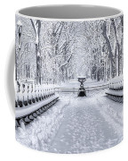 The Mall In Snow Central Park Coffee Mug