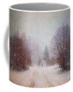 The Man In The Snowstorm Coffee Mug by Tara Turner