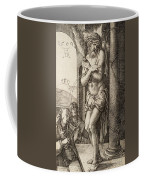 The Man Of Sorrows By The Column With The Virgin And St. John  Coffee Mug
