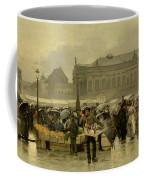 The Market In Antwerp Coffee Mug