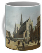 The Market Place And The Grote Kerk At Haarlem Coffee Mug