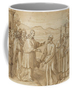 The Meeting Of San Carlo Borromeo And San Filippo Neri Coffee Mug