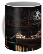 The Michipicoten's Departure Under A Full Moon Coffee Mug