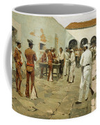 The Mier Expedition-the Drawing Of The Black Bean Coffee Mug