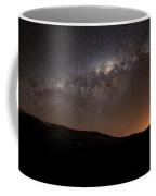 The Milky Way Setting Behind The Hills Coffee Mug