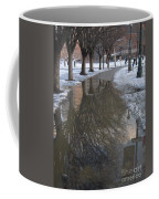 The Mirrored Streets Of Philadelphia In Winter Coffee Mug