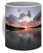 The Missouri River At Sunset Reflects Coffee Mug