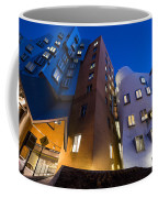 The Mit Stata Center At Night Kendall Square Cambirdge Ma Moon Front Coffee Mug