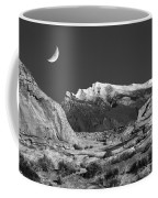 The Moon And The Mountain Range Coffee Mug