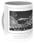 The Moon And The Mountain Range Poster Coffee Mug
