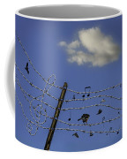 The Musical Barbed Wire Birds Coffee Mug
