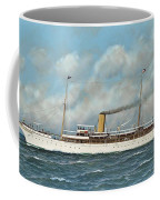 The New York Yacht Club Steam Yacht Vanadis At Sea Coffee Mug