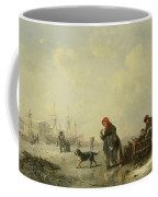 The Newa At Saint Petersburg In Winter Coffee Mug