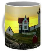 The Nubble Cape Neddick Lighthouse In Maine At Dawn Coffee Mug