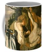 The Nursing Of Saint Sebastian Coffee Mug by Theodore van Baburen