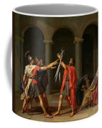 The Oath Of Horatii Coffee Mug by Jacques Louis David