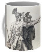 The Oath Of The Horatii, Detail Of The Horatii  Coffee Mug