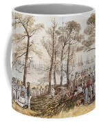 The Officers And Seaman Of The Fleet On Shore At Nargen Coffee Mug