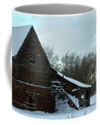 The Old Barn Winter Scene  Coffee Mug