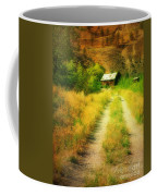 The Old Building Across The Creek Coffee Mug