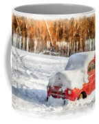 The Old Farm Truck In The Snow Coffee Mug
