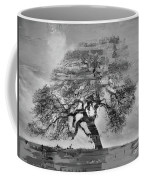 The Old Oak Tree Standing Alone  Coffee Mug