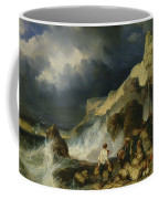 The Onslaught Of The Smugglers Coffee Mug by Louis Eugene Gabriel Isabey